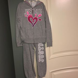 Justice Sweatsuit with Matching long Sleeve Top